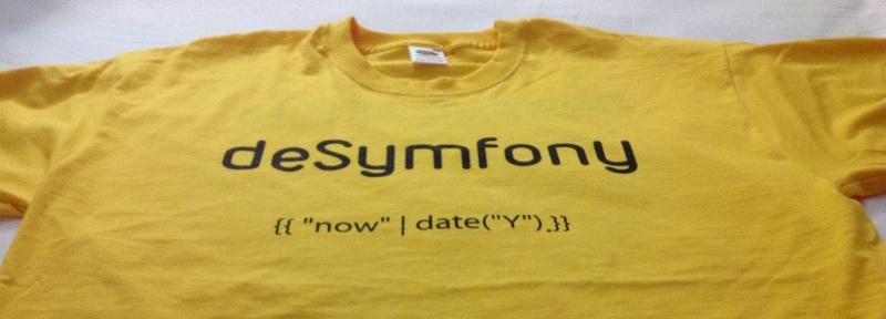 Camiseta de deSymfony 2013