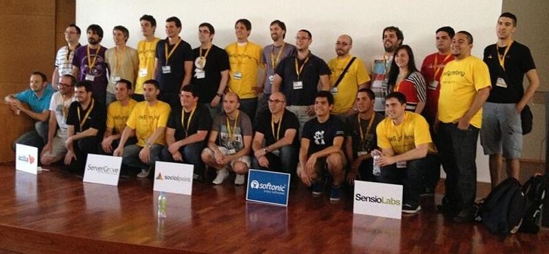 Ponentes y organizadores de deSymfony 2013